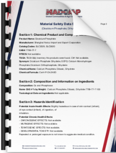 Material Safety Data Sheet-Dicalcium Phosphate