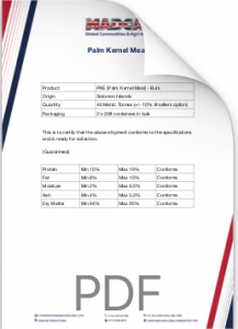 Palm Kernel Meal Analysis