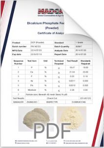 Dicalcium Phosphate feed Powder